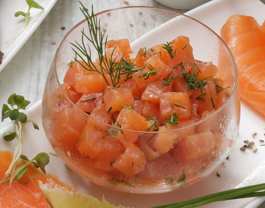 tartare de saumon fumé - Ph.ASSET